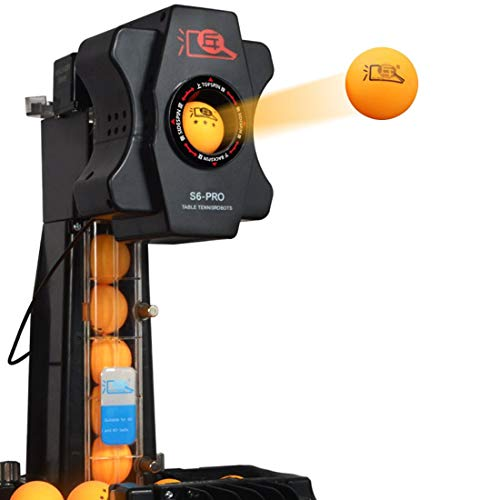 GDAE10 Table Tennis Robot Automatic Ping Pong Ball Machine Practice 2019 -JT-A Updated Version - S6-PRO (US Stock) (Best Ping Pong Table 2019)