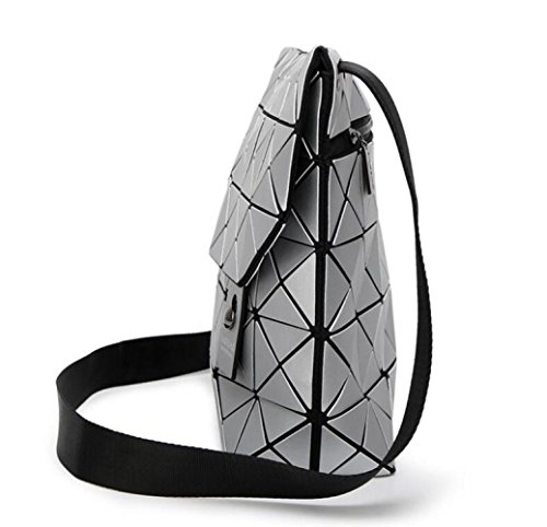 A Diamante Tracolla Pieghevoli Forma Giapponese Di Silver Impunture Wlfhm Stile Geometriche Borse qTzwqdxE