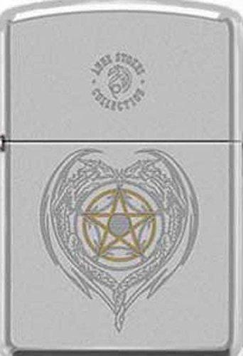 5 Point Star Symbol Engraved by Anne Stokes Artist Zippo Lighter