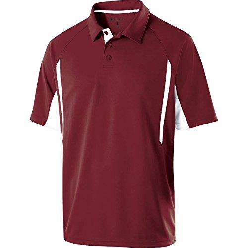 Holloway Sportswear Avenger Short-Sleeve Polo Shirt. 222530 Cardinal / White 3XL