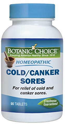 Botanic Choice Homeopathic Cold/Canker Sores, 90 Tablets (Pack of ()