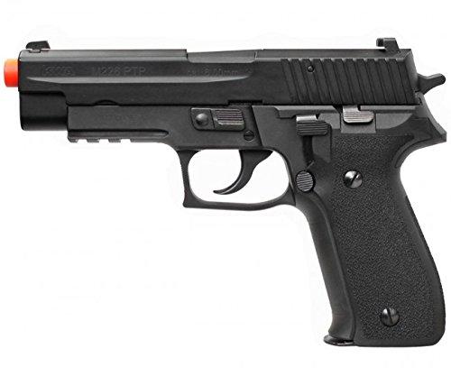 kwa m226 ptp gas airsoft pistol full metal construction green gas blowback gbb fps-350 professional training pistol series(Airsoft Gun)
