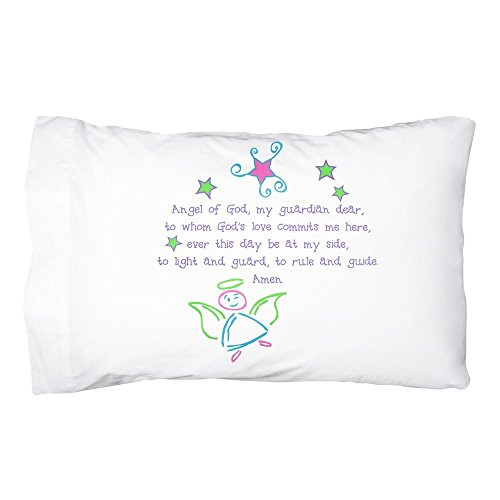 Message Brands Guardian Angel Pillowcase - Pastel Colors ()