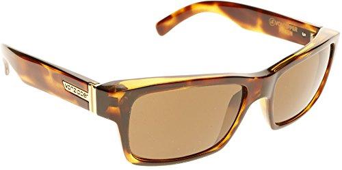 Von Sunglasses SMF7FUL Fulton 3 Category Zipper TRT Rectangle Lens Tortoise YYqarwf