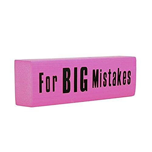 Mistakes Jumbo Novelty Pink Eraser