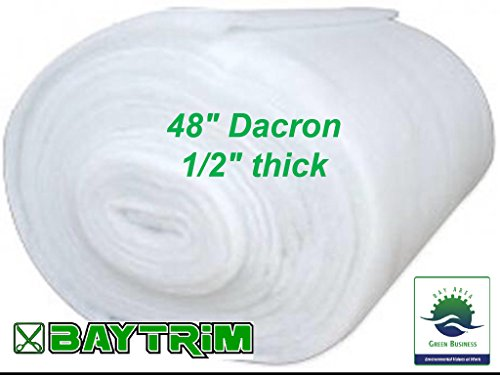 BayTrim Bonded Dacron Upholstery Grade Polyester Batting 48 inch Wide. (15 Yards) by BAYTRIM