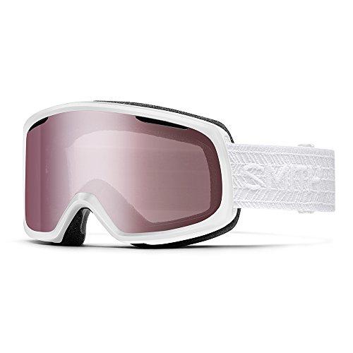 Smith Optics Riot Snow Goggle White Eclipse with Ignitor Mirror and Yellow Lens (Ski Riot)