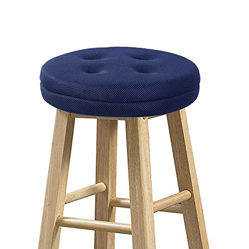 baibu Stool Covers Round, Super Breathable Round Bar Stool Cover Seat Cushion Navy Blue 12