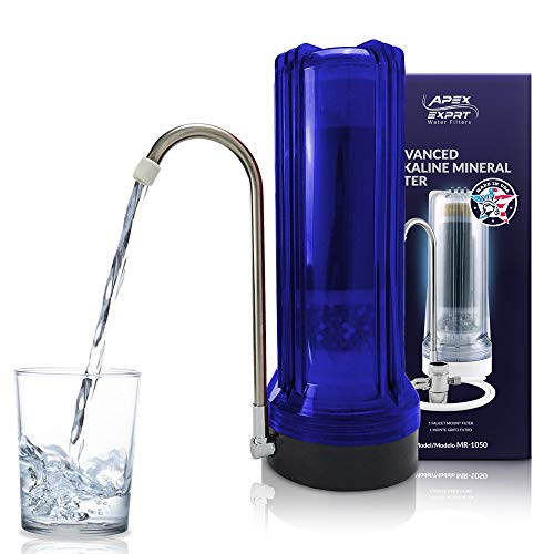 Countertop Drinking Water Filter - Alkaline (Blue) 8 Stage Countertop Water
