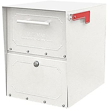 Architectural Mailboxes Geneva Locking Mailbox White - Wall ...