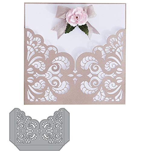 Best Quality - Cutting Dies - Flourish Lace Pocket Paper Craft Die Cut Metal Cutting Dies Scrapbooking Decorative Embossing Stencil Card Make Pattern Template - by BLUESKYUP - 1 PCs for $<!--$9.29-->