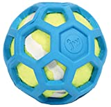 JW Pet Company 42204 Proten HOL-ee Roller Lime Green Tennis Ball, Assorted Colors (Small, Green/Red/Blue)