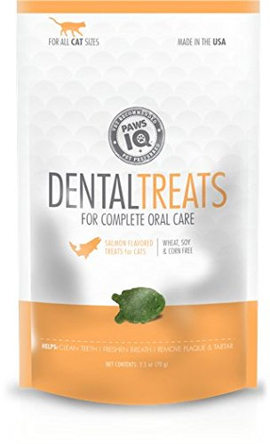 Cat Paw Care (Paws IQ Cat Dental Treats - Salmon Flavor, 5.5oz)