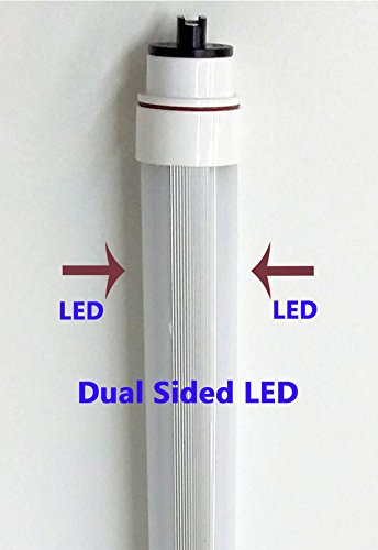 RDC 4ft T12HO waterproof Dual sided LED directly relamps and replaces the 60 watt 4ft fluorescent bulb F48T12HO without rewiring or modification