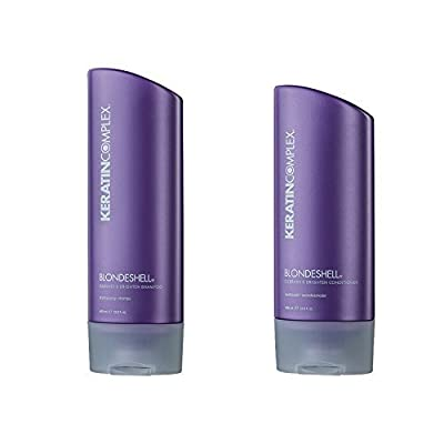 Keratin Complex Blondeshell Debrass & Brighten Shampoo And Conditioner Duo, 13.5 Oz