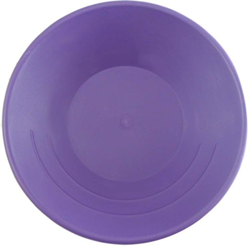 PROSP king lodge 10 Inches Violet Plastic Gold Miner's Pan with Built In Ridges: TJ-30635 ()