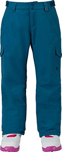 Burton Girls' Elite Cargo Snow Pant, Jaded, Medium (Cargo Burton Elite)