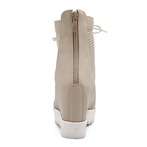 AmoonyFashion Womens Open Toe Zipper Blend Materials Solid High Heels Sandals Beige JVKkXzX0S