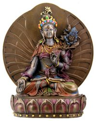 White Tara, Buddhist Goddess of Compassion and Longevity Statue, 6 Inches - Gold Buddhist Statues