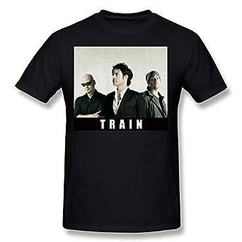 Train band t shirt for mens black xxl clothing for Xxl band t shirts