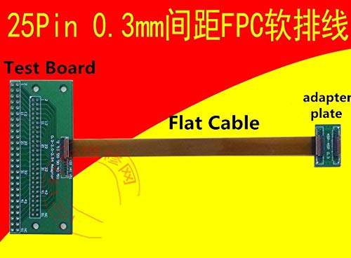 Zamtac 25Pin 0.3mm spacing FPC Flexible Flat Cable MIPI Mobile Phone LCD Screen Flat Cable pinboard Test Board Extension Adapter Plate - (Size: Only Flat Cable 60mm)