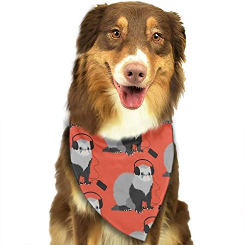LETI LISW Dog Bandanas Funny Musical Ferret Triangle Scarfs Bibs Scarf Assortment Suitable Pet Scarf for Puppy Small and Medium Pet