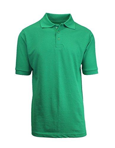Galaxy by Harvic Short Sleeve Polo Shirts - Boys School Uniform - Kelly Green, Size (Boys Kelly Green)