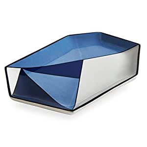 Now House by Jonathan Adler Facet Decorative Tray, Blue