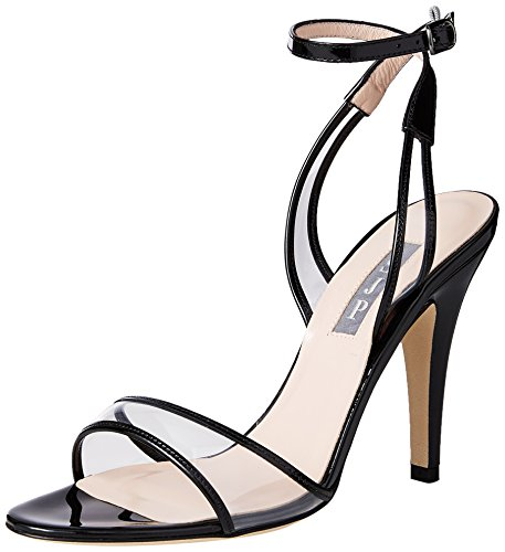 - SJP by Sarah Jessica Parker Women's Queen Heeled Sandal, Black Patent, 38.5 B EU (8 US)