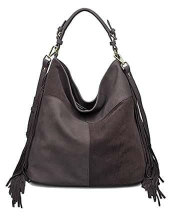 Amazon.com: Moda Luxe Posh Hobo Handbag (Brown): Clothing