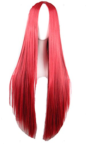 75cm Long Hair Heat Resistant Straight Cosplay (Red Halloween Wigs)