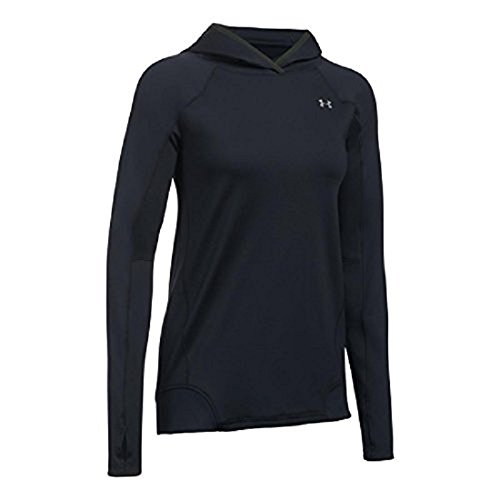 - Under Armour Women's ColdGear Armour Pullover Hoodie,Black (001)/Metallic Silver, Small