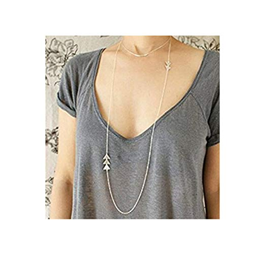 One Life ,one jewerly silver Triangle Geometric Necklace?long necklace