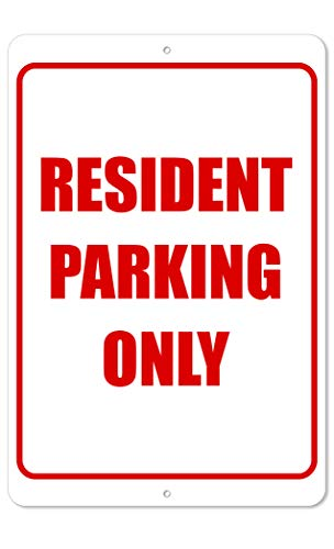(The King Kush Resident Parking Only Sign | 8 x 12 Aluminum Outdoor Sign | Red)