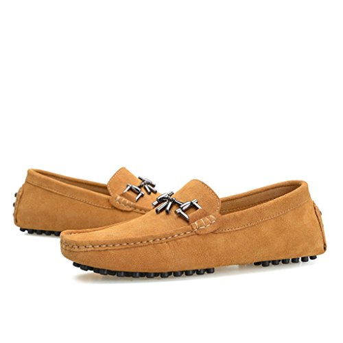 Designer Shoes Buckle Drving Loafers New Men's Boat Suede Brown TDA 8tCEwq