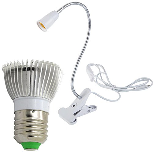 Sonmer E27 18 LED Grow Hydroponic Lighting With Clip Plants Lamps, For Flower Hydroponics System Indoor Garden Greenhouse ()