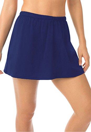 Swim 365 Women's Plus Size Swimskirt Swimwear Ink,18