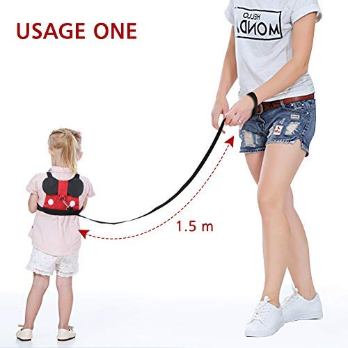 Accmor Baby Anti Lost Safety Harness + Anti Lost Wrist Link, Cute Kid Safety Harness Leash Child Kid Assistant Strap for 1-8 Years Boys and Girls to Zoo or Mall by accmor (Image #2)
