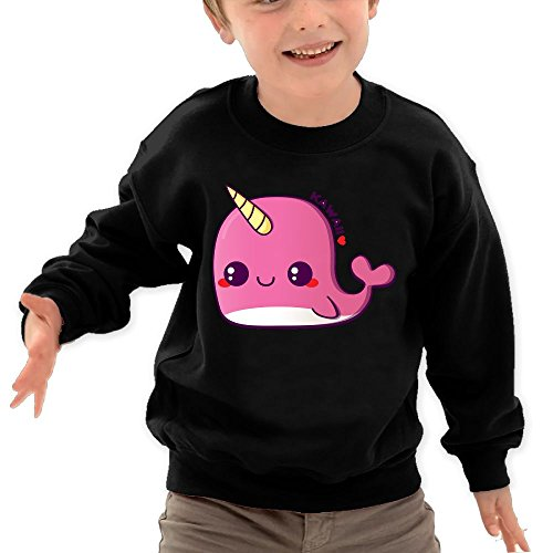 Personalized Mlb Mug (Puppylol Kawaii Pink Narwhal Kids Classic Crew-neck Pullover Hoodie Black 5-6 Toddler)