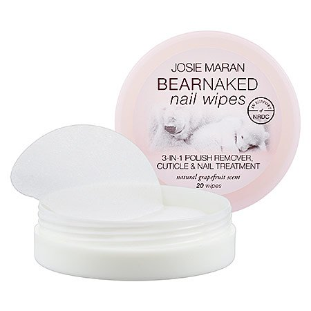 Josie Maran Bear Naked Nail Wipes (20 Nail Wipes, Grapefruit)