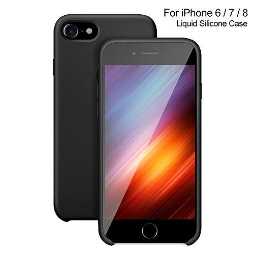 VitaVela iPhone 8 Plus Case, iPhone 7 Plus Silicone Cover Liquid Silicone Gel Rubber Case with Soft Microfiber Cloth Lining Cushion for iPhone 6 Plus/iPhone 7 Plus/iPhone 8 Plus -