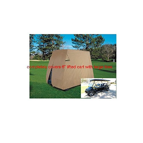 LIMO LIFTED Golf Cart Cover Designed For Lifted Carts Fits EZgo Club Car Yamaha E Z Go Large XL Xtra Large Cove