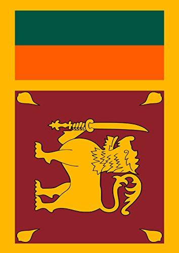 Toland Home Garden 1110718 Sri Lanka Country Garden Flag, 12.5 x 18 Inch