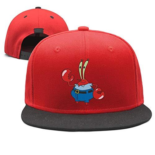 Man Spongebob-Squarepants-Mr.-Krabs-Crab- Snapback hat Trucker Hats Baseball