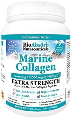 Marine Collagen Powder, Extra Strength w/Peptan (Type 1 Hydrolyzed Collagen Peptides), 15 oz, 42-Day Supply