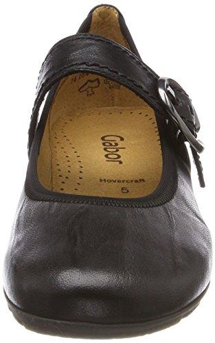 para Negro Shoes Bailarinas Casual Gabor Mujer Schwarz1 t4F0ww