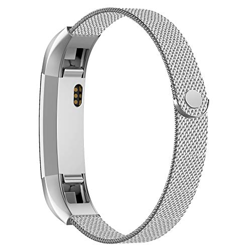 POY Compatible for Fitbit Alta Bands, Stainless Steel Metal Replacement Bracelet Strap with Unique Magnet Lock for Fitbit Alta and Fitbit Alta HR