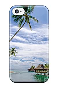 Tpu Case Cover Compatible For Iphone 4/4s/ Hot Case/ Seascape