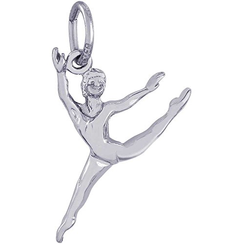 Rembrandt Charms Ballet Dancer Charm, 14K White Gold by Rembrandt Charms