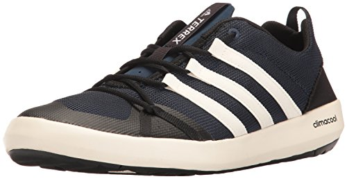 adidas Outdoor Men's Terrex Climacool Boat Water Shoe, Collegiate Navy/chalk White/Black, 9 M US